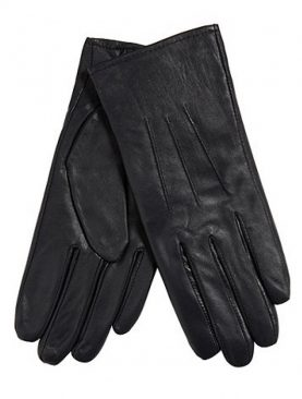 Black sheep leather driving gloves