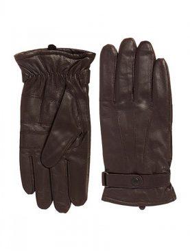 Dark brown Goat leather winter gloves