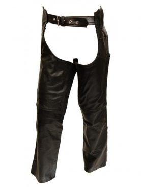 Mens black cowhide leather chap