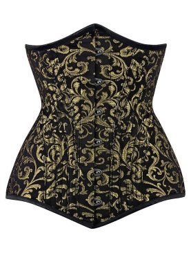 Waist Trainer Steel Boned Brocade Corset