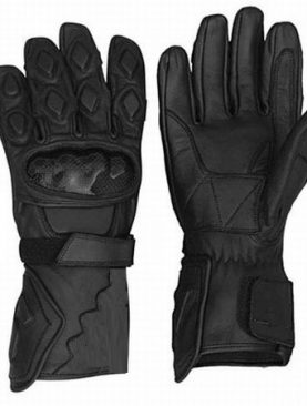 Leather Motorbike Breathable Black Gloves