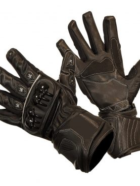 Men's Leather Summer Motorbike Gloves Knuckle And Wrist Protection