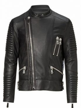 Black Mens Highway Leather Jacket