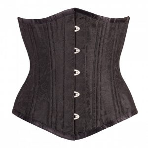 Classic Black Brocade Authentic Waist Training Underbust