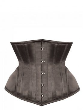 Black Satin Waist Training Underbust Corset