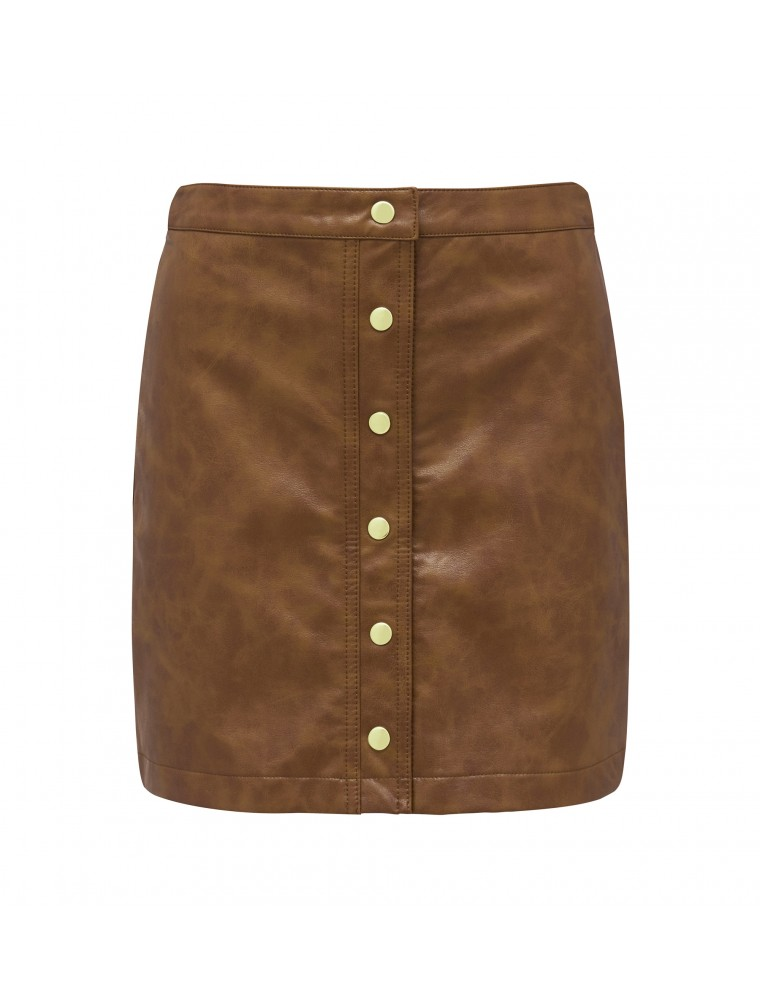 freva nw button down skirt
