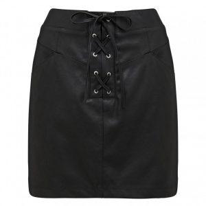 freva nw lace up mini skirt