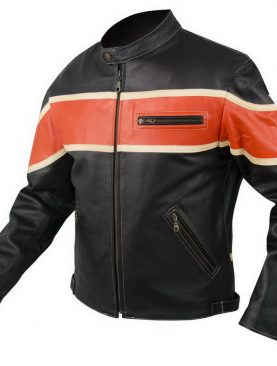 Highway Style Cowhide Biker Jacket