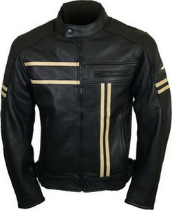 Leather Vintage Cruiser Retro Motorbike Jacket