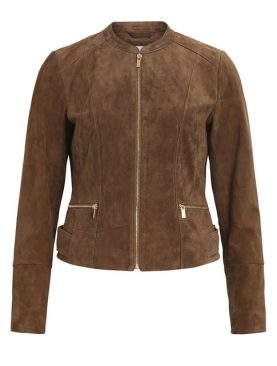 Ladies Brown Goat Suede Jacket