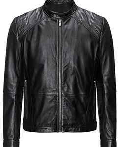 Leather jacket in a slim fit-Leather Attires