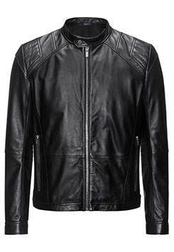 Mens Sheep Leather Jacket In A Slim Fit