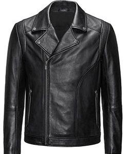 Slim-fit biker jacket in nappa leather 2222