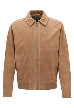 Mens Suede Aviator Jacket